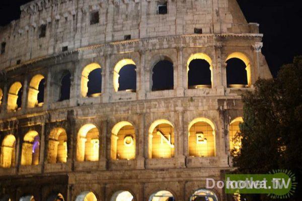 Koloseum podświetlone