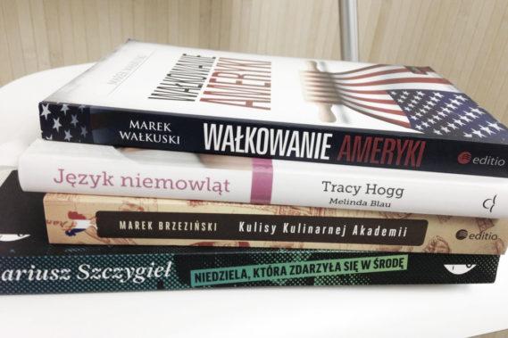 Książki na styczeń - Michał wybrał reportaże a ja lekką książkę kulinarną i poradnik dziecięcy :)