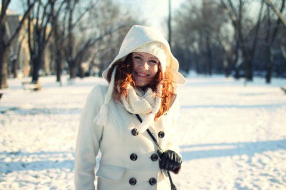Strój na zimowy spacer