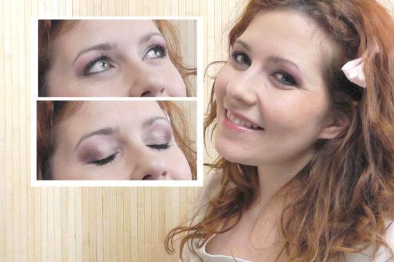 Makijaż na randkę: lekko różowy, podkreślone oczy, dziewczęcy