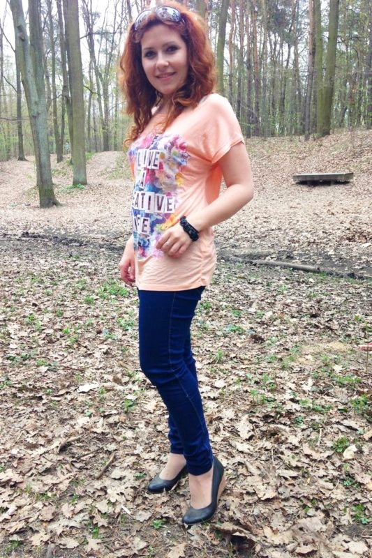Jeansowe rurki w stylizacji, w końcu jest na tyle ciepło, że z przyjemnością nagrywam taki film :)