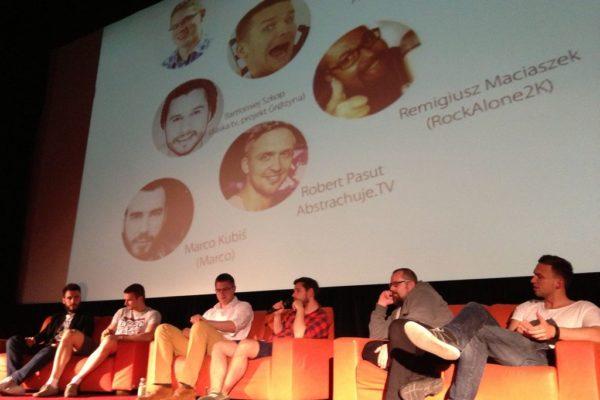 Panel o kombajnie multimedialnym, brał w nim udział Michał