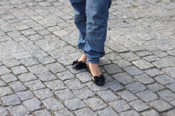 Strój dnia luźne spodnie