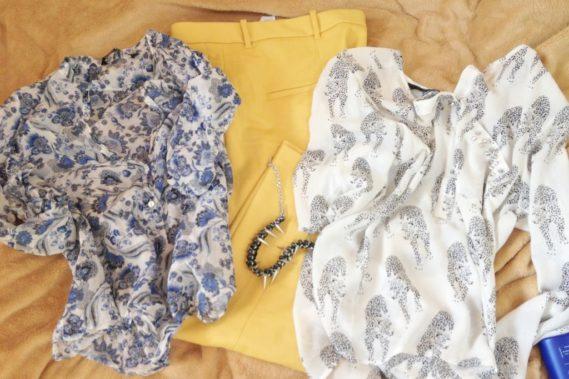 Zakupy w czerwcu, moje lekkie bluzki i trochę cytrynowe spodnie