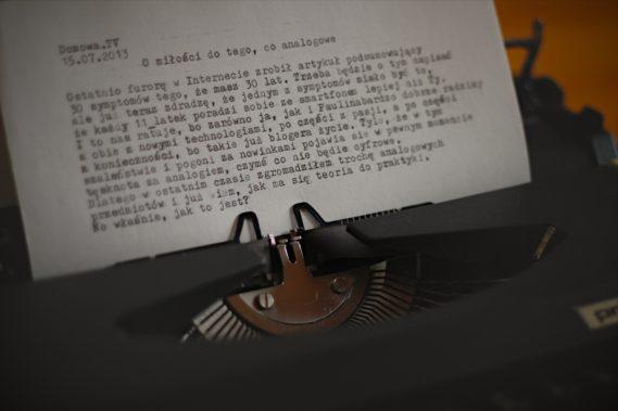 Moja maszyna do pisania