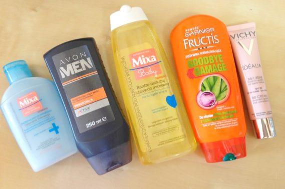 Moje typy kosmetyczne: płyn do demakijazu, krem wielofunkcyjny, żel, ozywka bez spłukiwania i szampon