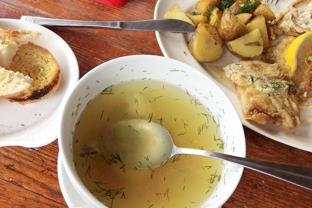 Zupa rybna i flądra - omnomnom