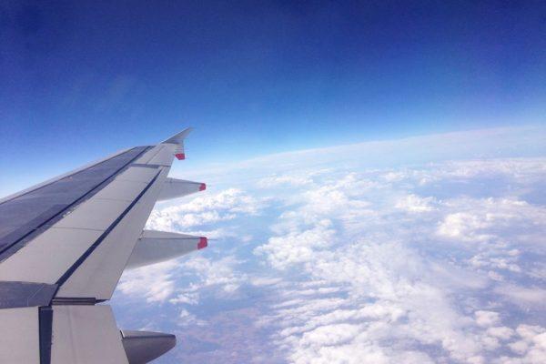 I na koniec widoczek – nie mogłam sie powstrzymać, uwielbiam takie widoki z samolotu :)