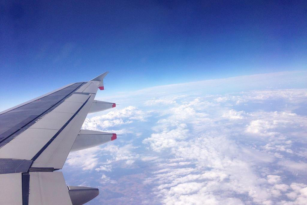 I na koniec widoczek - nie mogłam sie powstrzymać, uwielbiam takie widoki z samolotu :)