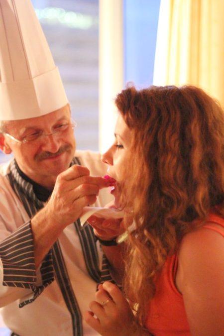 I degustacja, szef kuchni, kwiaty, czekolada i ja :)