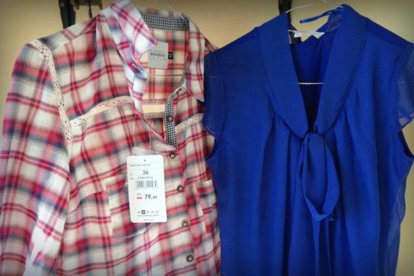 Koszula i chabowa bluzka