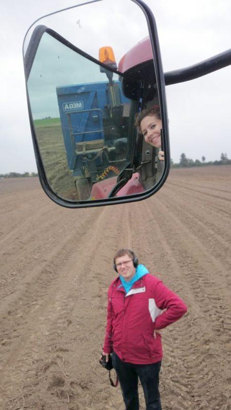 Sweetfocia z wnętrza traktoru