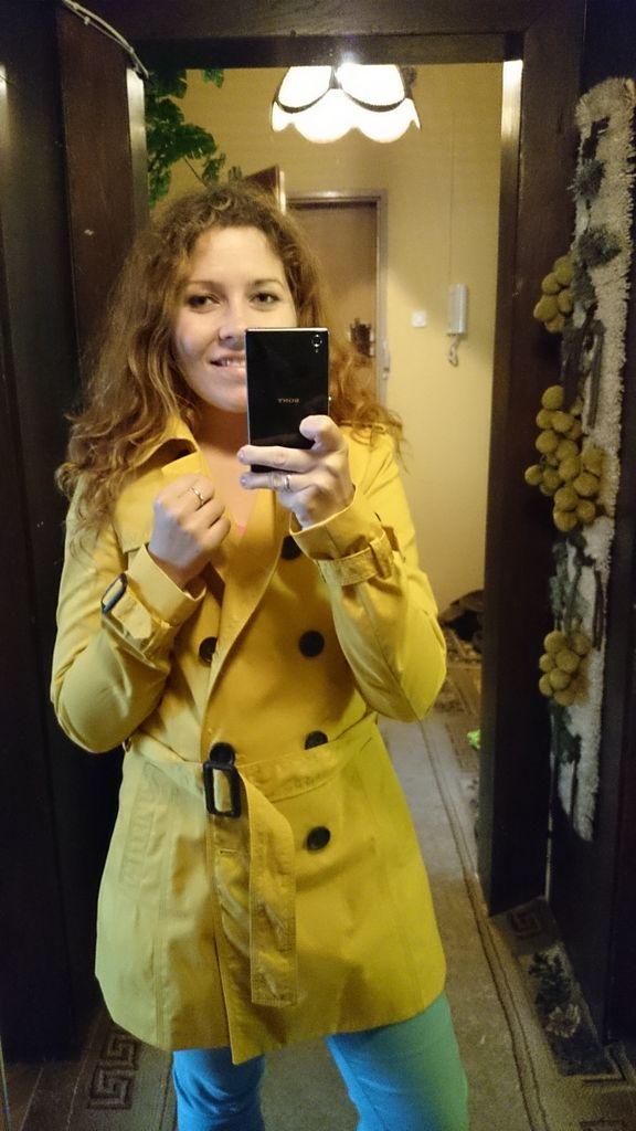 A to już mój jesienny płaszcz, wnętrze rodziców :)