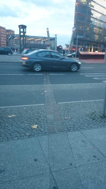 A tędy szedł mur berliński.