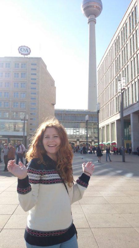 Aleksanderplatz a w tle wieża telewizyjna :)
