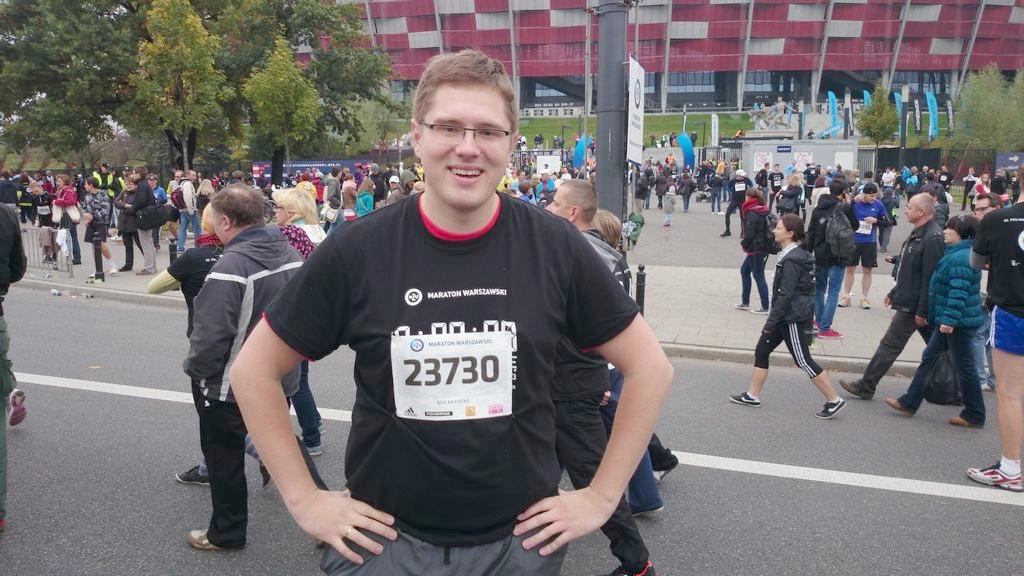 Michał pobiegł na piątkę podczas Maratonu Warszawskiego