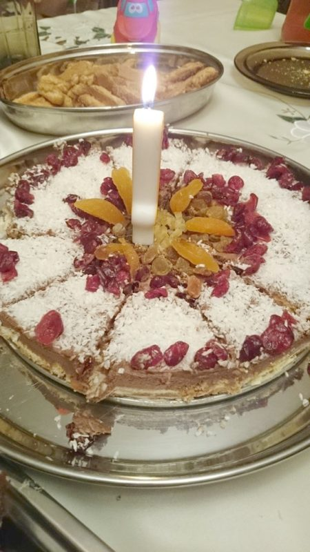 Moi rodzice dobrze wiedzą jaki jest mój tort marzeń :) Sernik! W dodatku mnie odmłodzili, kochani :))
