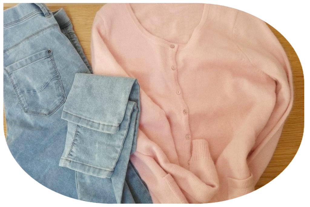 Jeansy i sweter, z jeansów uwielbiam te typu legginsy :)