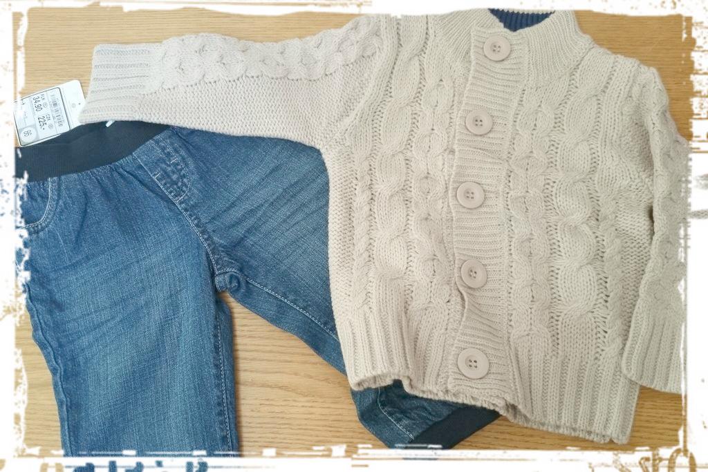 Dzieciaczkowe :) to są zakupy, które naprawdę lubię robić :) Spodnie i sweter
