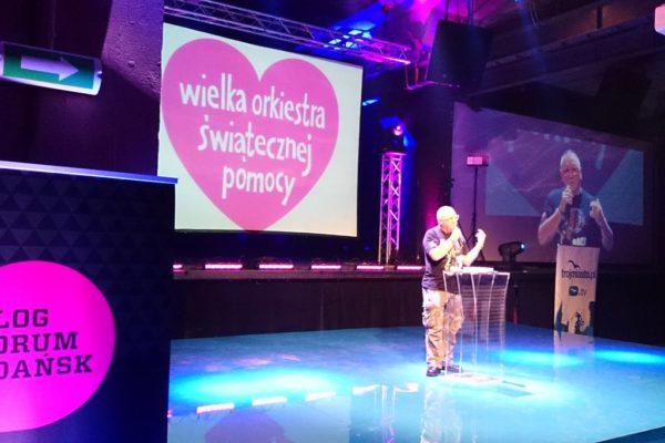 Gdańsk, a dokładniej Blog Forum Gdańsk i fantastyczne wystąpienie Jurka Owsiaka