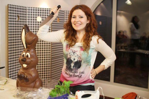 I bohater wieczoru - czekoladowy zając