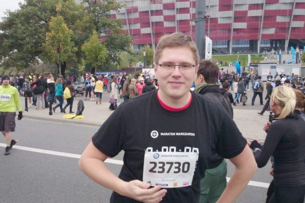 I Maraton Warszawski, Michał biegł na piątkę, ale jestem pewna, że następnym razem pobiegnie dalej :)
