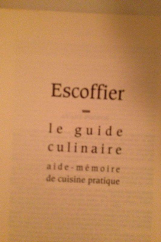 Michel Morano pokazywał nam swoją ksiazkę, totalna encyklopedia kuchni francuskiej, cudo. Szukam na amazonie po angielsku :D