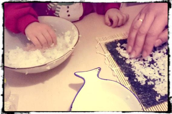 Rosnie nam sushi master, czyli rodzinne robienie sushi :)