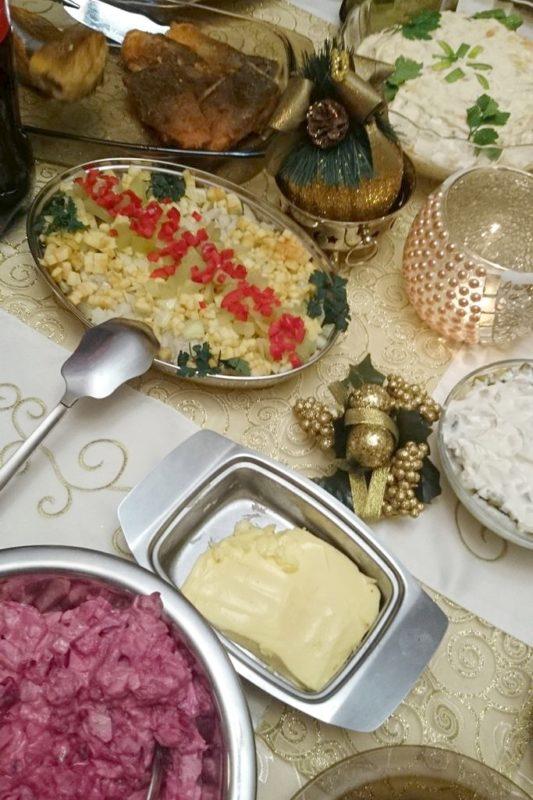 Nasz świąteczny stół, tak, jak Wam kiedyś wspominałam w kolorze złocistym