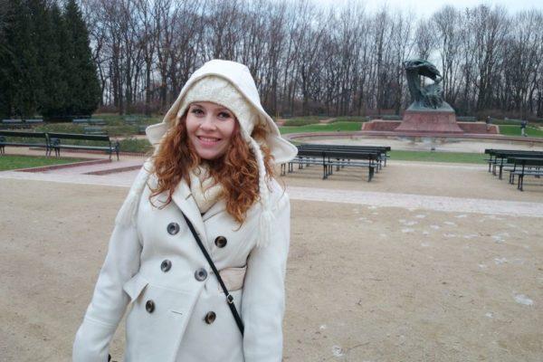 Spacer w Łazienkach, zima, zima, zima