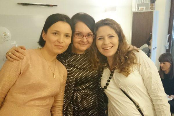 Marysia, Agata i ja podczas spotkania blogerek parentingowych. Dziewczyny zorganozwały świetne spotkanie, bardzo merytoryczne i miłe i wielkie brawa za to