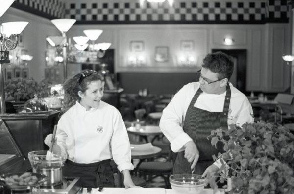 Bardzo niedawno w kawiarni hotelu Bristol z szefem kuchni Michałem Tkaczykiem