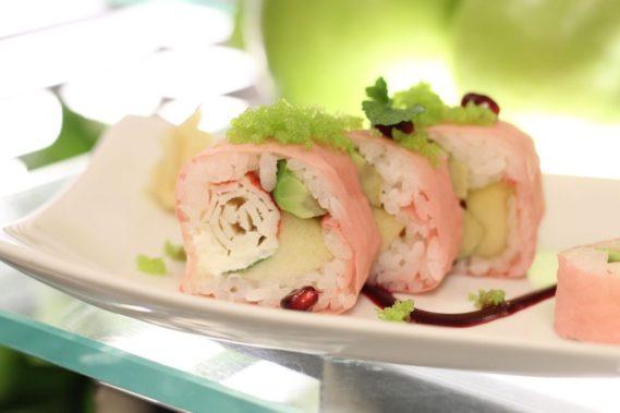 I jeszcze słodkie sushi. Sebastian Kornacki, zastępca szefa kuchni w Westinie szkolił mnie z sushi i to było absolutne fusion zaskoczenie!