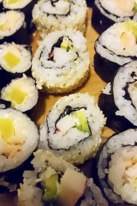 Moje pierwsze sushi odwrotne uromaki - jeah!