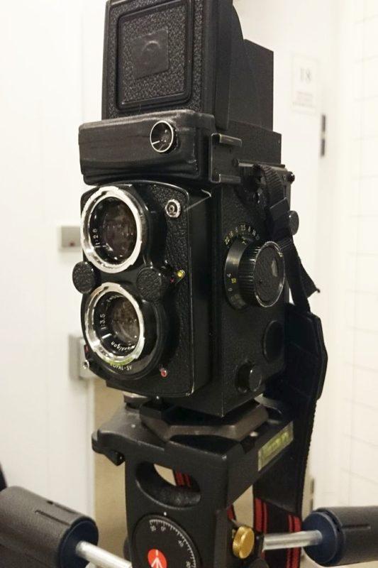 I jeszcze jedno zbliżenie na aparat z dwoma obiektywami :)