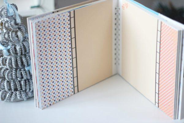 Ta rozkładówka dobrze sprawdzi się przy zdjęciach poziomych, bo lewa część ma podział pół na pół i pionowe zasłoniłoby łączenie, które jest efektowne. Podpowiadam, bo warto wcześniej przemyśleć, gdzie jakie zdjęcie się umieści