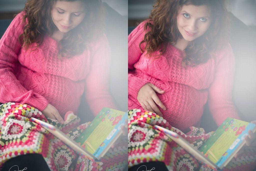 Sesja ciążowa na słodko