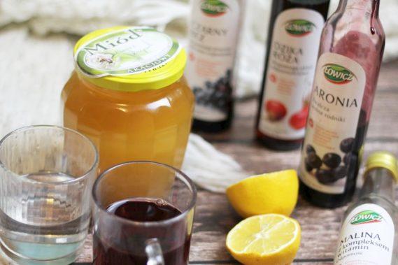 Sok z brzozy, miodek, syropy domowe lub kupne, herbata rumiankowa