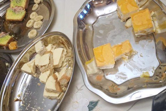 Zagapiłam się i nie zrobiłam zdjęcia na starcie, ale tutaj przynajmniej widać, które z moich ciast smakowało rodzinie najbardziej :)