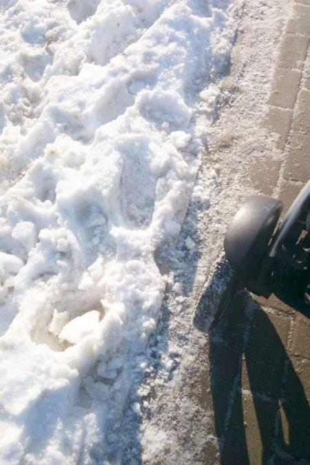 Ale jak śnieg był to potwierdzam - koła pompowane - cudo!