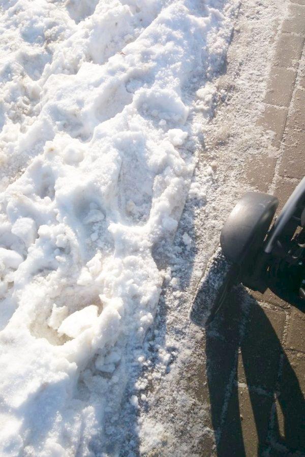 Ale jak śnieg był to potwierdzam – koła pompowane – cudo!