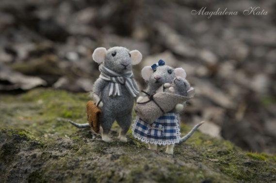 To zdjęcie od Magdy i urzekło mnie to, że poza ślicznymi cudami są też tak ładne zdjęcia, no przecież aż chce się mieć taką mysią rodzinkę z filcu :)