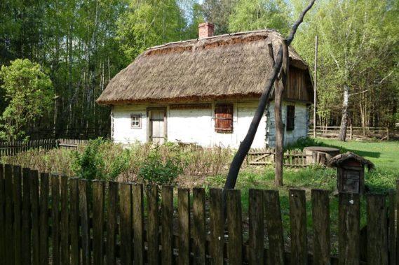 Wieś Granica i typowe zabudowania