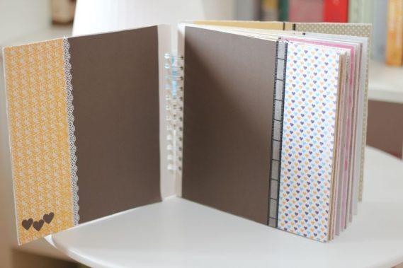 Bardzo fajnie wyglądają ciemne kartki w połączeniu z jasnymi fragmentami