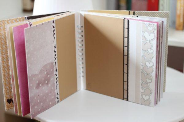 Jak będziecie kupować kartki to polecam część białych a część we wzory, zbyt dużo wzorów to spory bałagan