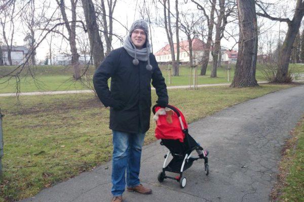 I skala porównawcza :) Michał z wózkiem