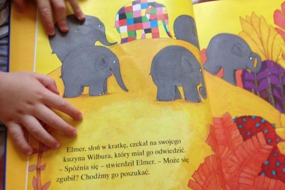 Elmer - fane ilustracje, sympatyczny bohater, lekka treść :)