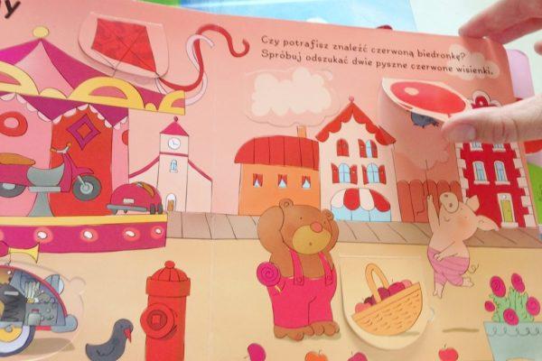 Naprawdę lepsza niż niejedna zabawka edukacyjna za grubą kasę :) Książeczka z okienkami, czyli nauka przez zabawę