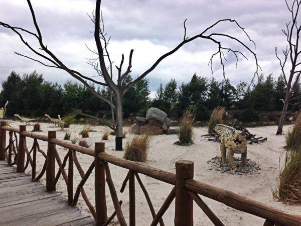 Park podzielony jest na różne sektory, w jednym jest piaszczysto, innym jest woda a potem las