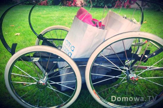 Zapakowane torby w wózku :)